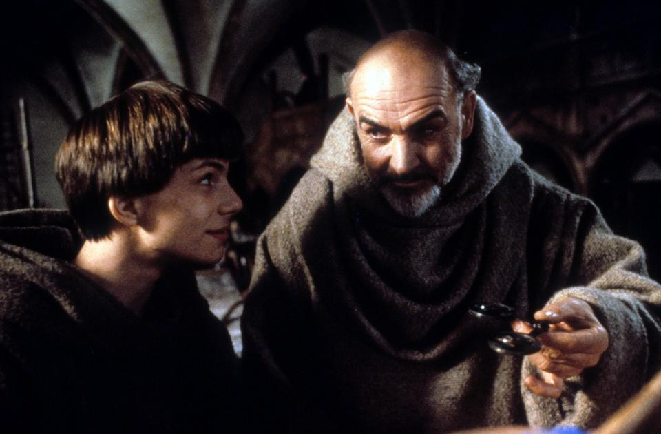 Christian Slater And Sean Connery In 'The Name Of The Rose'