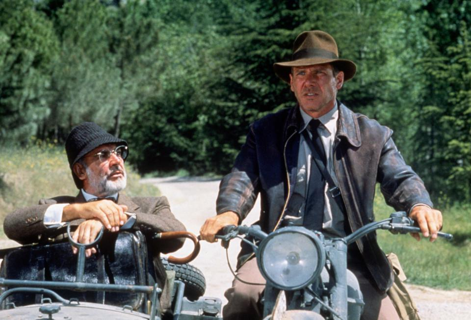 Harrison Ford and Sean Connery in 'Indiana Jones and the Last Crusade', 1989.