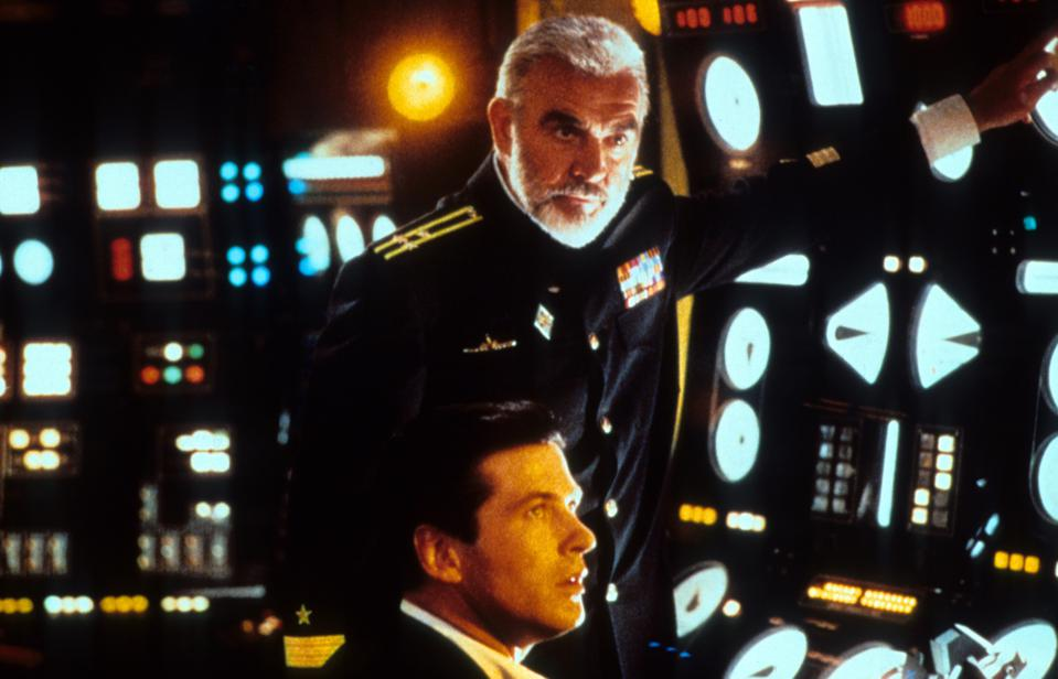 Alec Baldwin And Sean Connery In 'The Hunt For Red October'