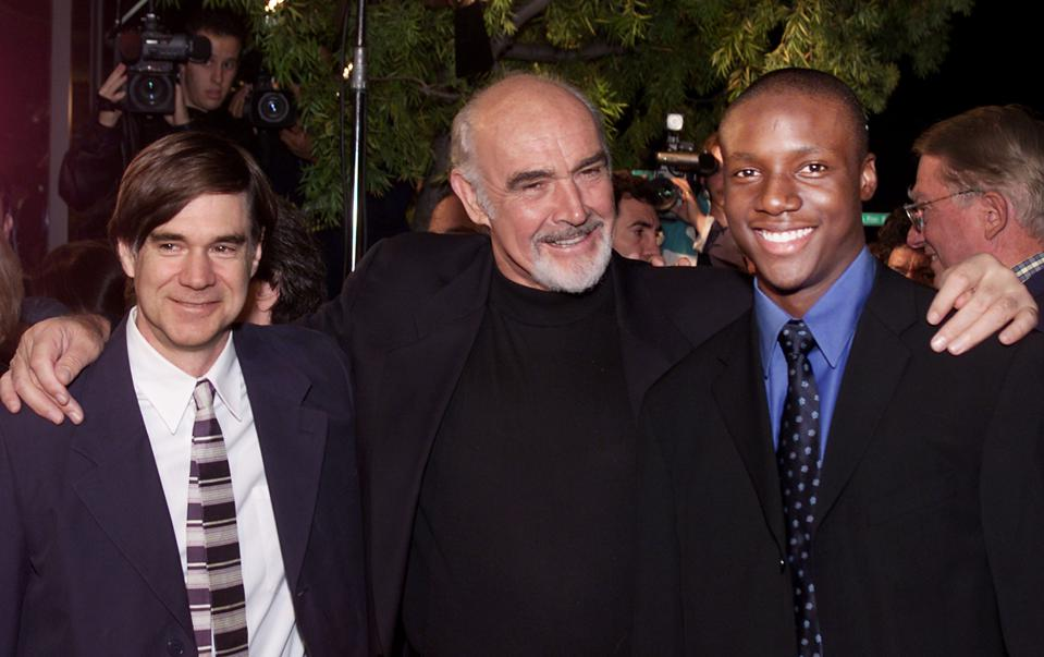 Director Gus Van Sant, Sean Connery and Rob Brown at the premiere of 'Finding Forrester'