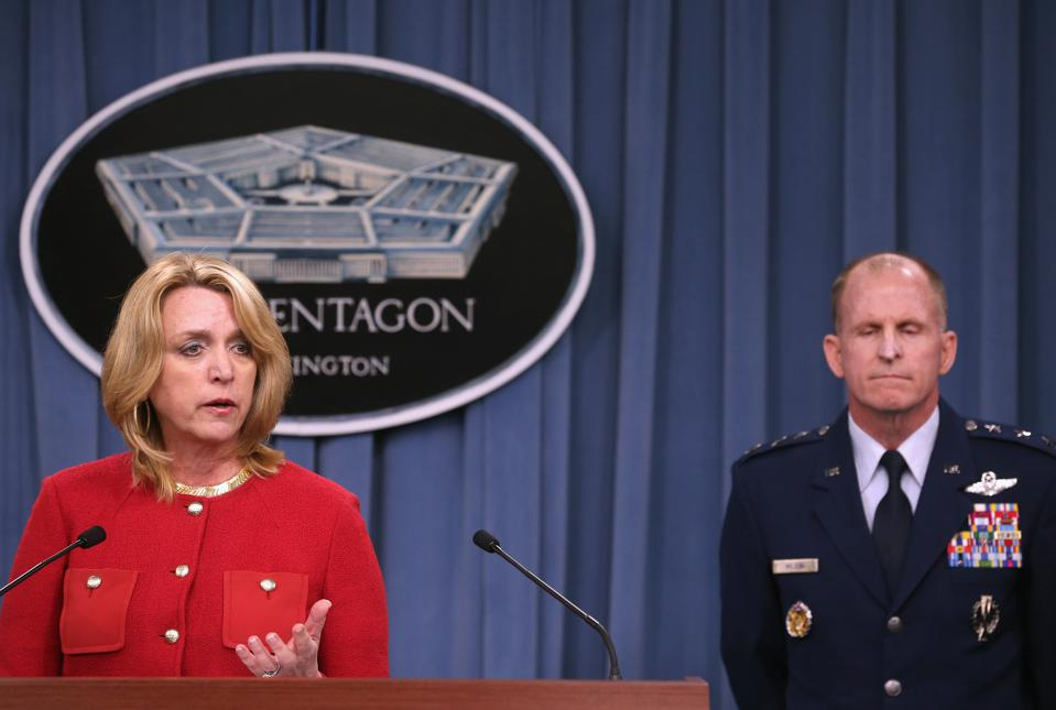 Air Force Secretary Deborah Lee James Briefs The Media On nuclear facility scandal