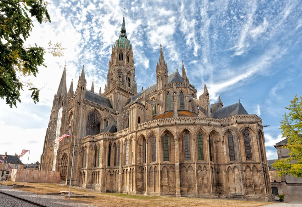 Bayeux Cathedral is beautiful inside and out.