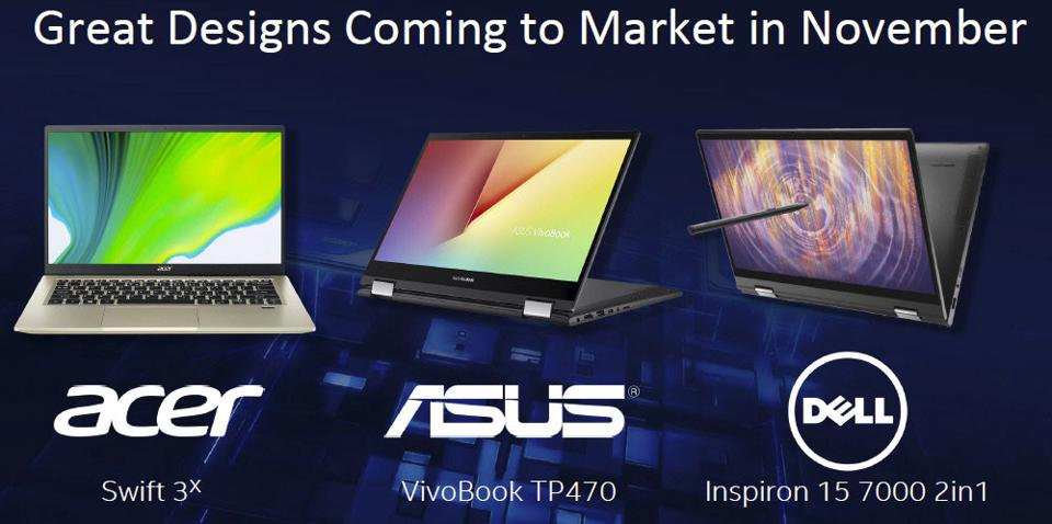 Laptops Coming To Market With Intel Iris Xe MAX On Board
