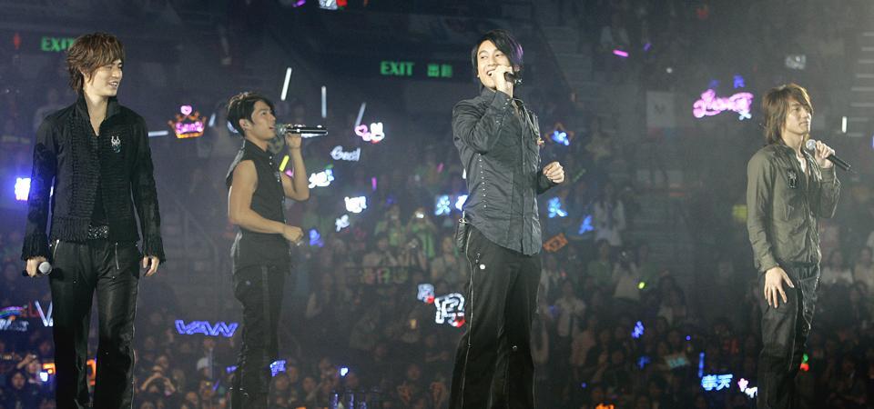Taiwan pop group F4 in Hong Kong, 2006.