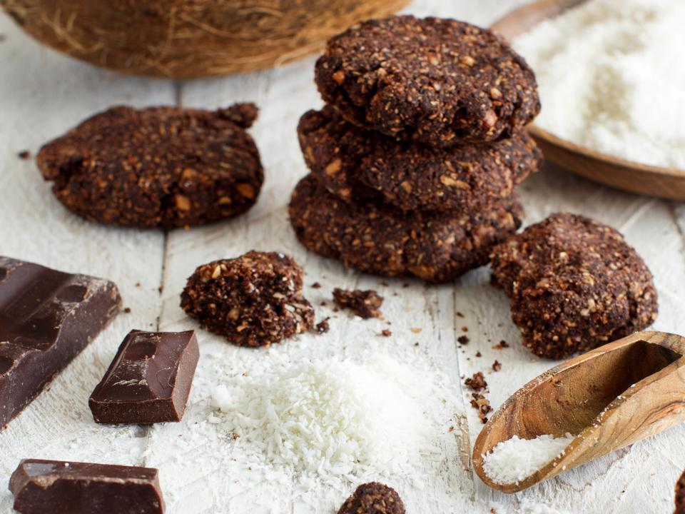 Chocolate Cookies with almond and coconut flour