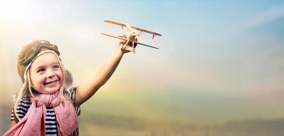 Freedom To Dream - Kid With Airplane