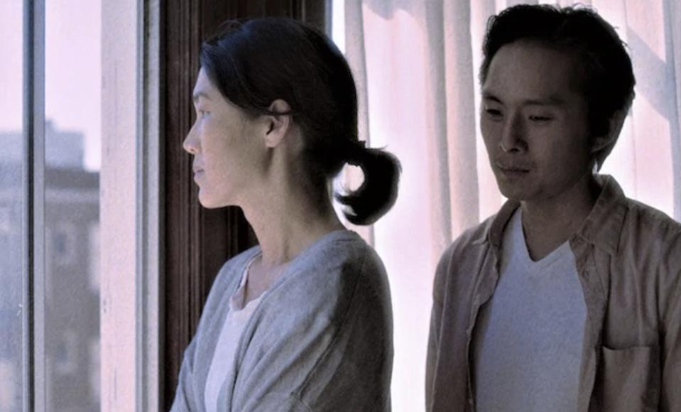 Jackie Chung and Justin Chon star in 'Coming Home Again.'