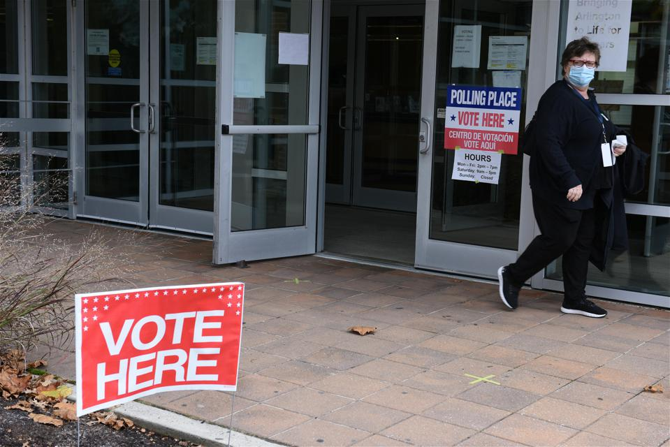 Early Voting For U.S. Presidential Election In Arlington