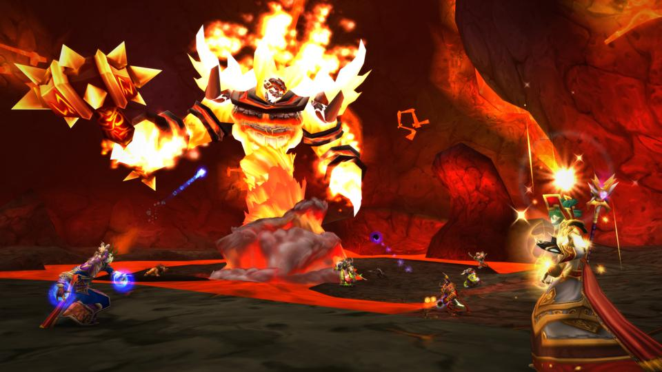 The Molten Core raid in World of Warcraft: Classic.