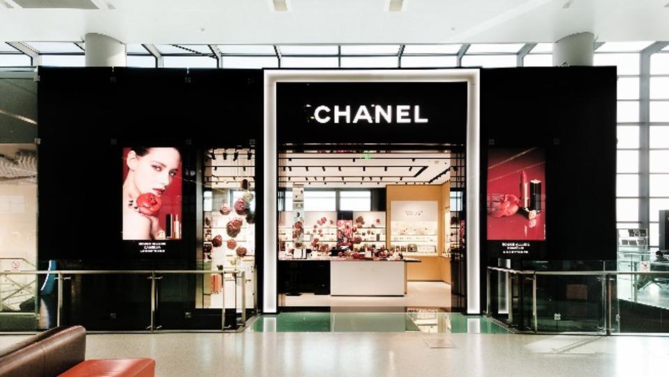 Chanel beauty store at Shanghai Hongqiao airport.