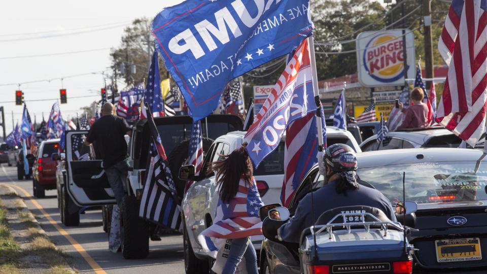 Long Island Loud Majority Trump caravan rally