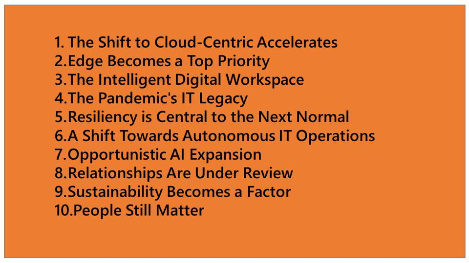 IDC's Technology Trends for 2021