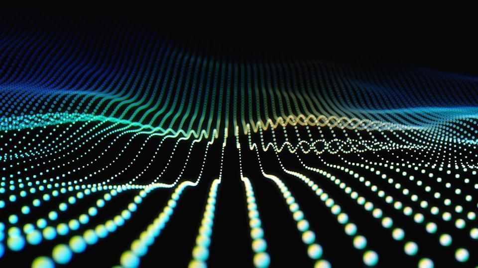 科技粒子線條背景