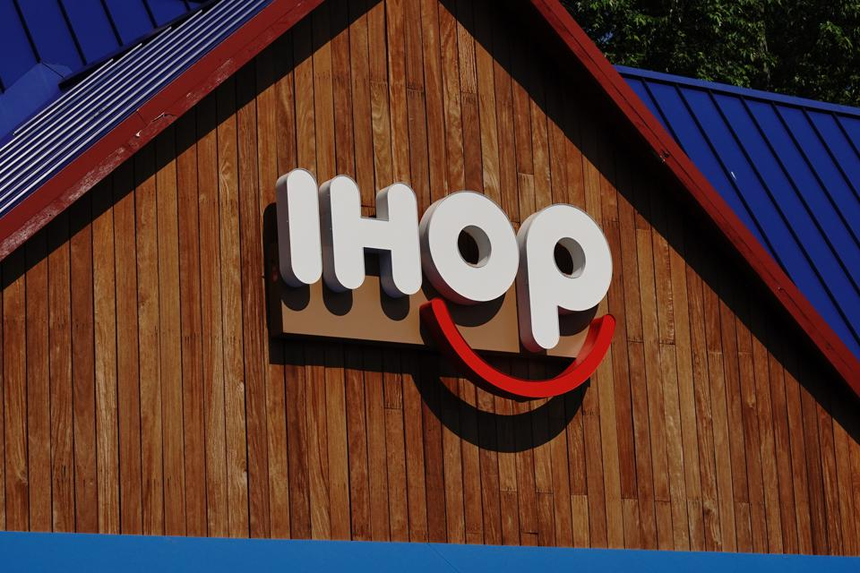 IHOP logo seen at one of their restaurants...