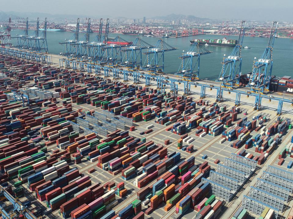 Automated Terminal At Qingdao Port