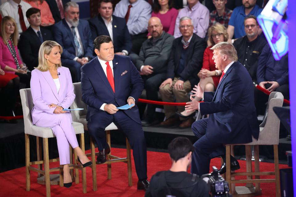 President Trump Participates In Fox News Channel Town Hall