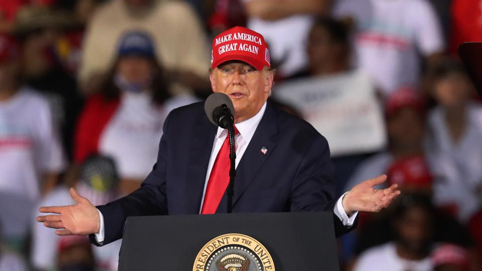 Donald Trump Holds Late-Night Campaign Rally In Miami Area