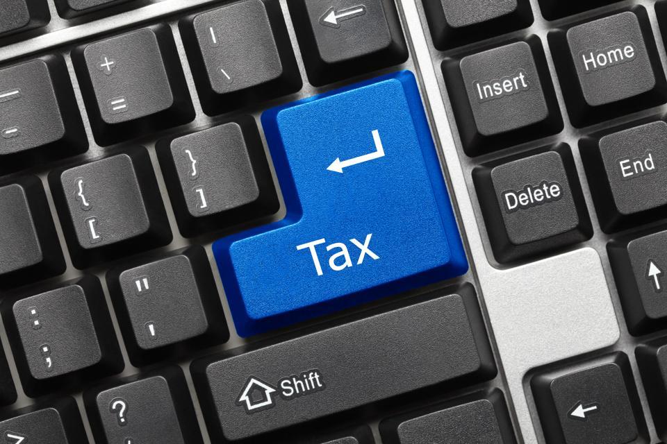 Conceptual keyboard - Tax (blue key)