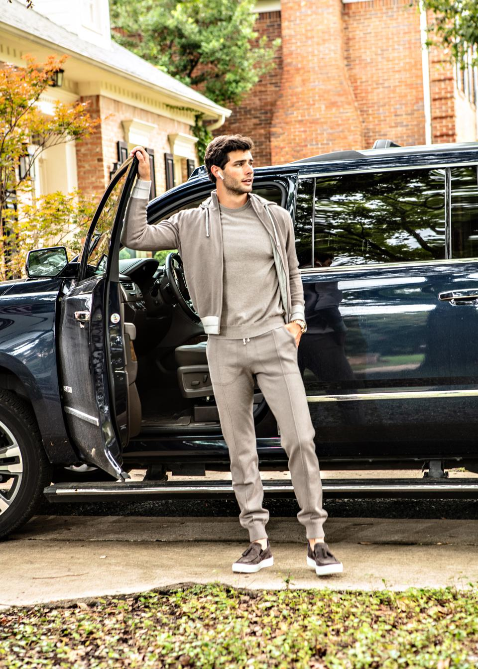 Hadleigh's Essential Men's Cashmere Tracksuit