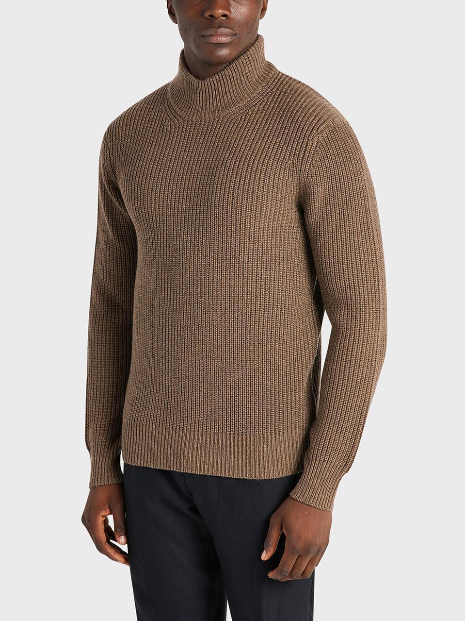 Introducing the Acton Mock Neck Sweater, it's classy yet casual and made from a soft, fine knit wool. Featuring a ribbed mock neck, cuffs, and hem, this sweater is universally flattering. Offered in 4 color-ways, Off-White, Charcoal, Navy & Coffee