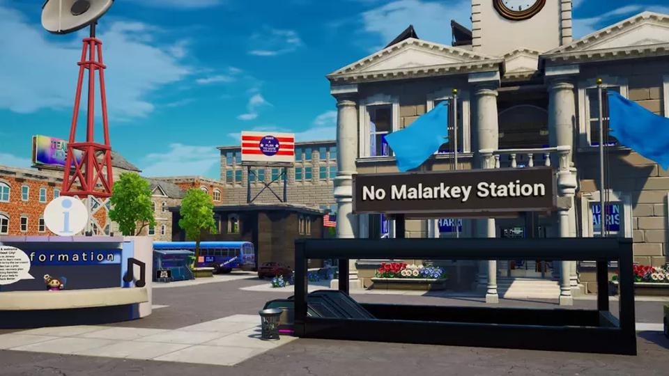 biden no malarkey station in fortnite
