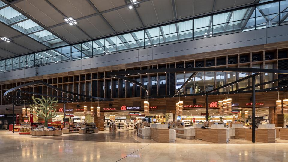 Heinemann's sprawling core duty-free store at Berlin Airport.