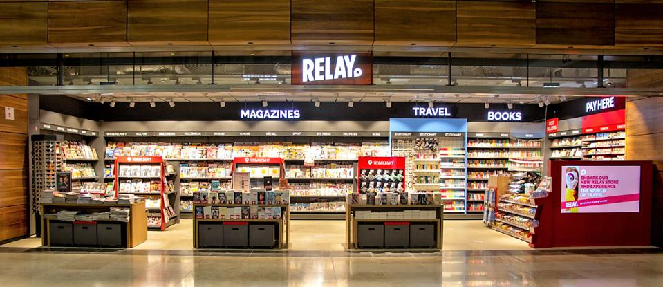 Relay storefront at Berlin Airport.