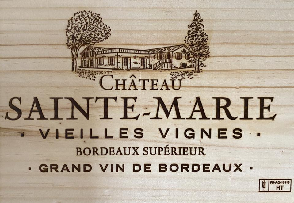 Wine box from Château Sainte-Marie, Bordeaux