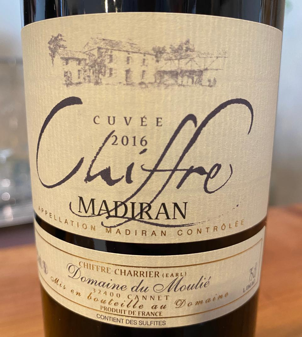 Cuvée Chiffre from the Madiran appellation, France