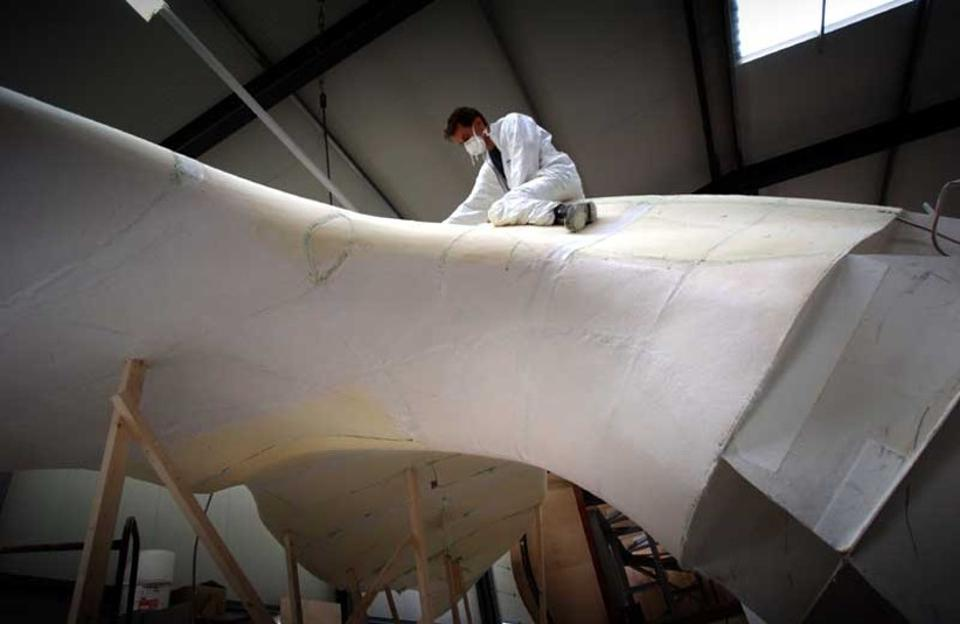 Construction of the blue whale tail to actual scale