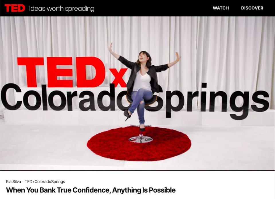 Pia Silva talks about banking true confidence at TEDx