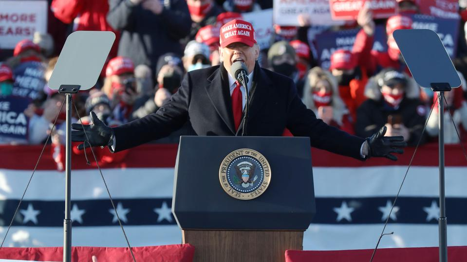President Trump Holds Campaign Rally In Pennsylvania One Day Before Election