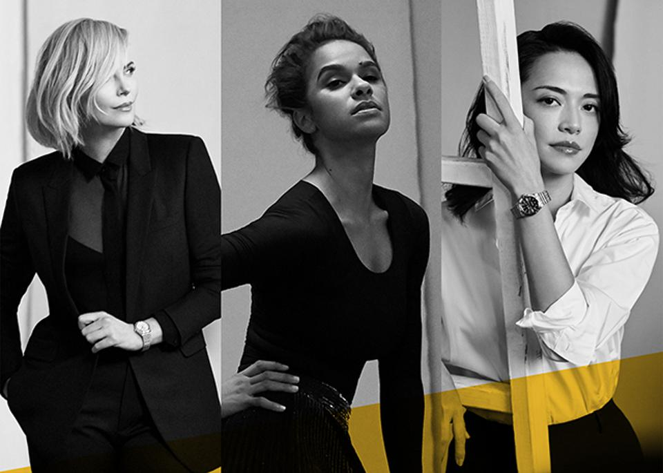 The Breitling Spotlight Squad: Charlize Theron, Misty Copeland and Yao Chen.