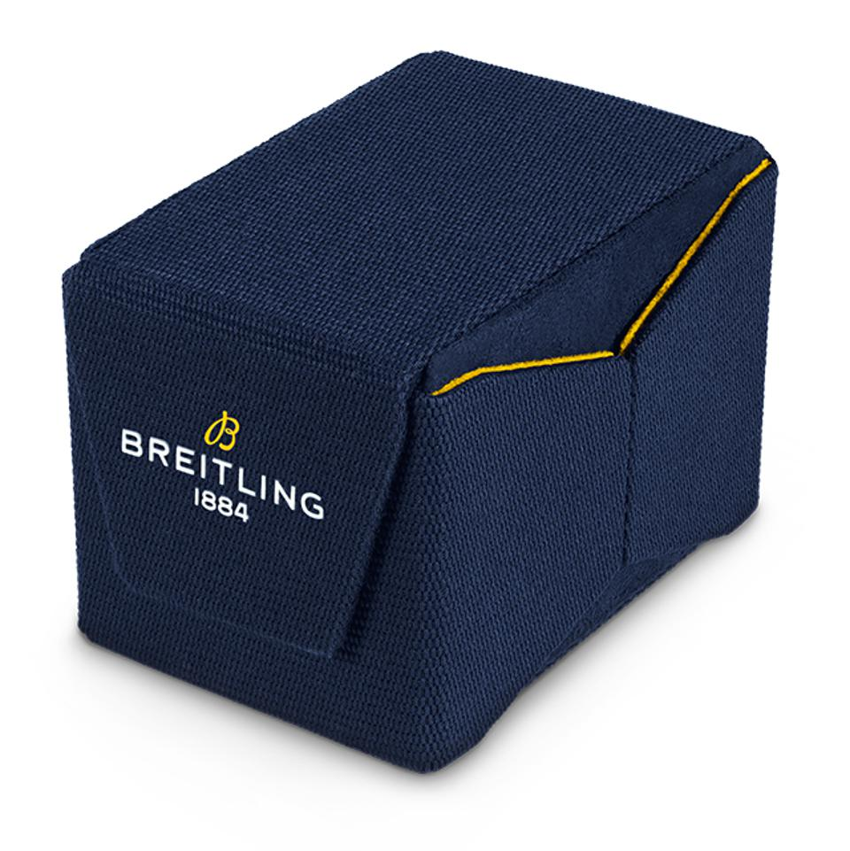 Breitling's new watch packaging is made from upcycled plastic.