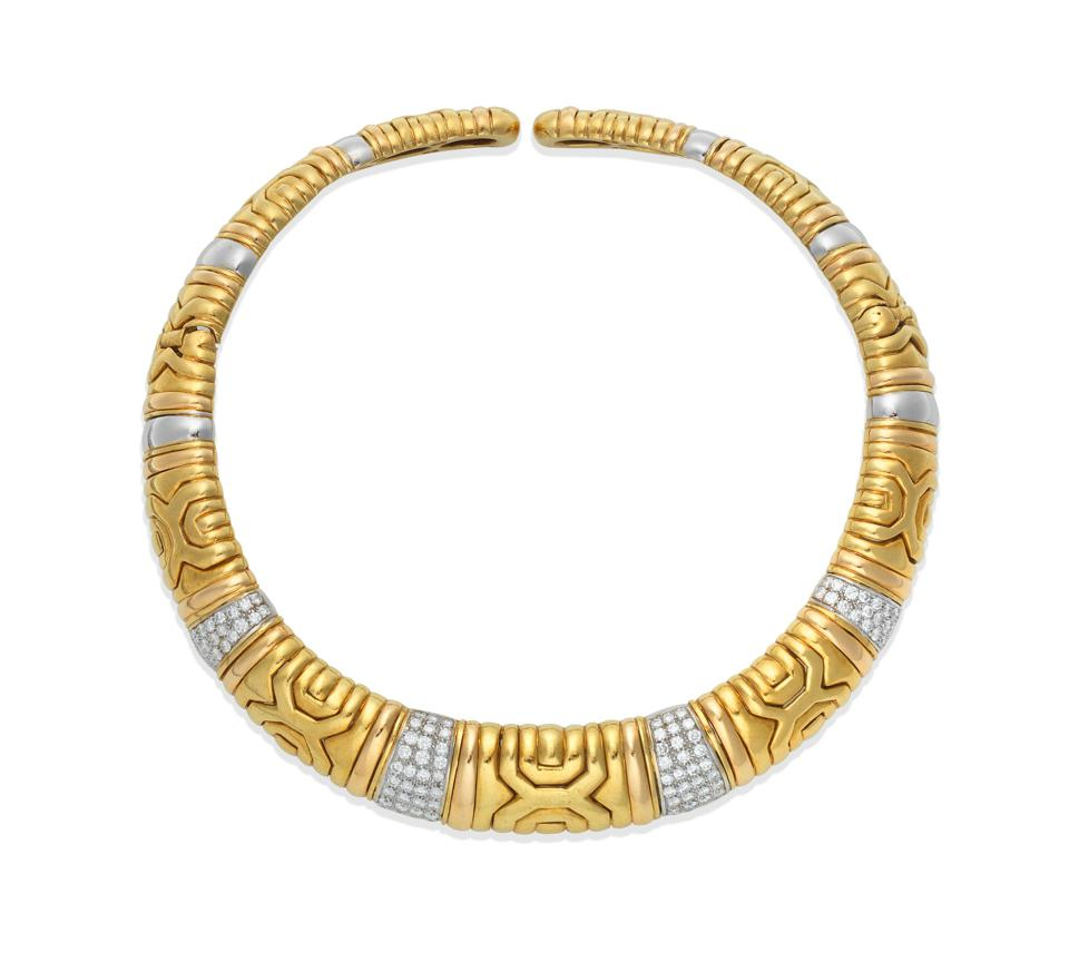 A diamond collar owned by Joan Collins with an estimate of $5,200 – $7,800
