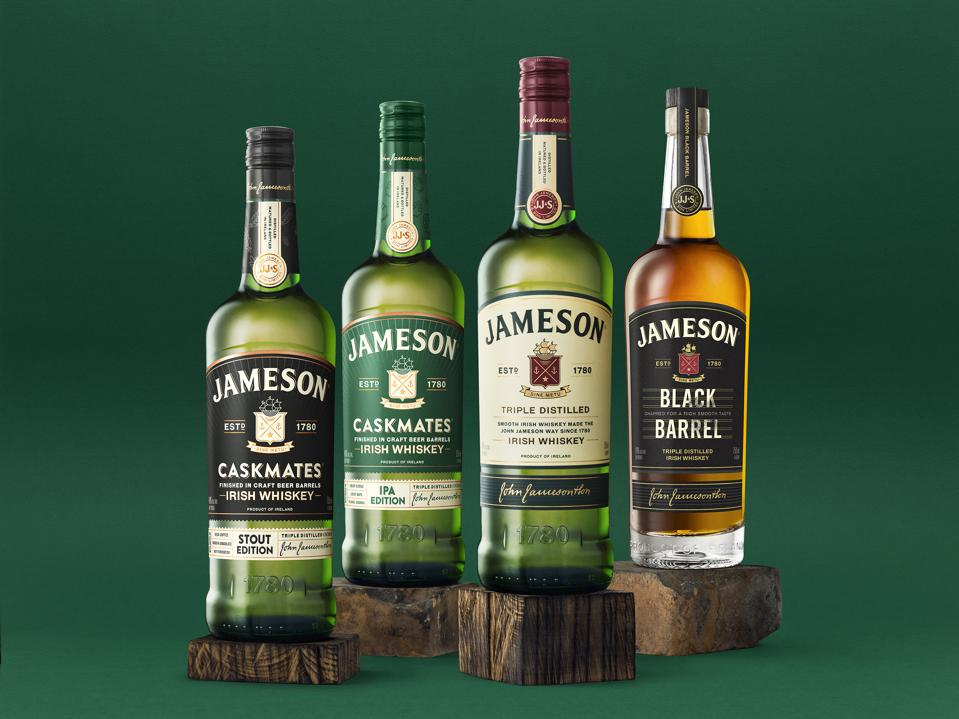 Some of the better selling Jameson Irish whisky expressions