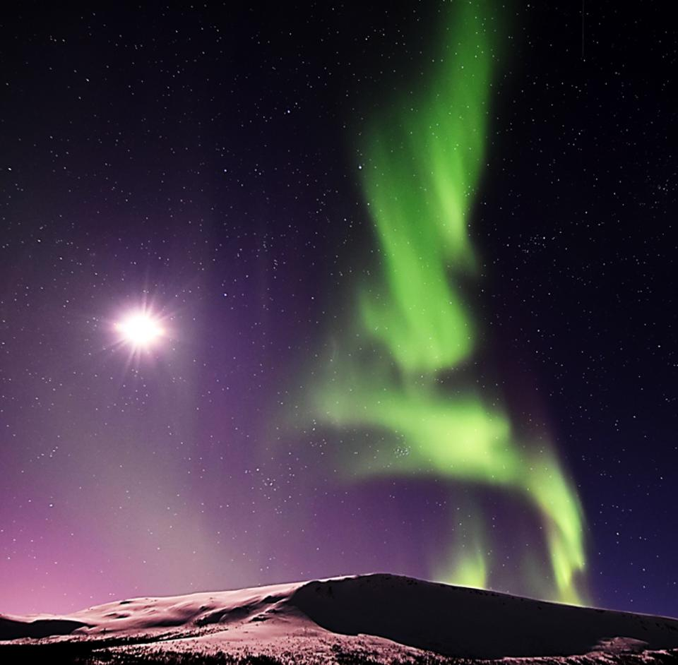 A display of the northern lights in Greenland