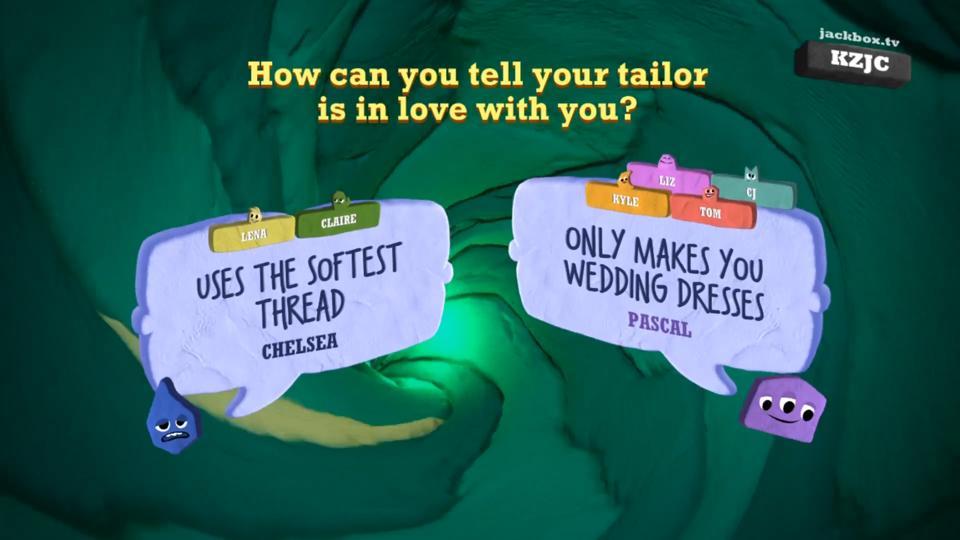 In Quiplash 3, players fight head-to-head jokes.