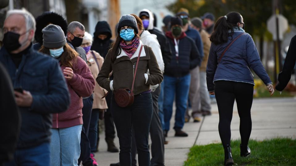 Pennsylvania voters in line to vote