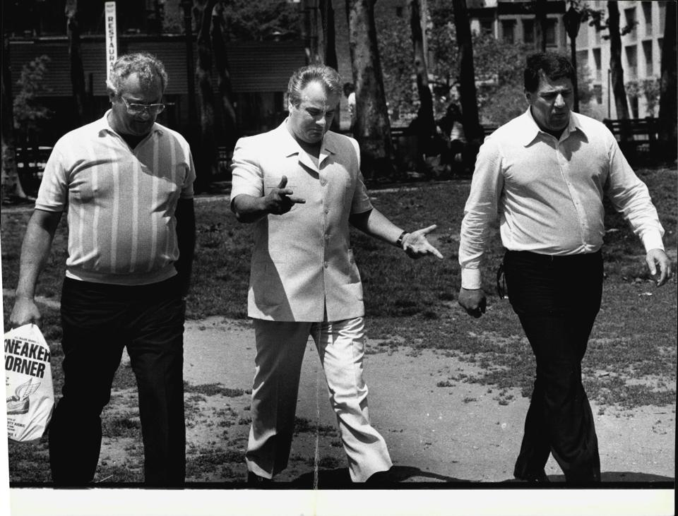 Peter Gotti (R), John Gotti (C) and Bartholomew ″Bobby″ Boriello (R)
