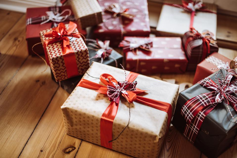 Picture of holiday gifts