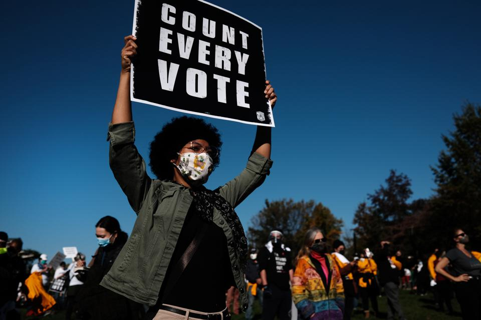 Protestors Hold ″Count Every Vote″ Protest Rally In Philadelphia