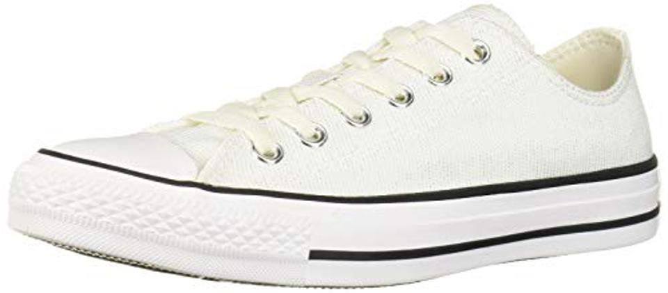 Converse Women's Ctas Ox Vintage Black/White Sneaker, 5 M US