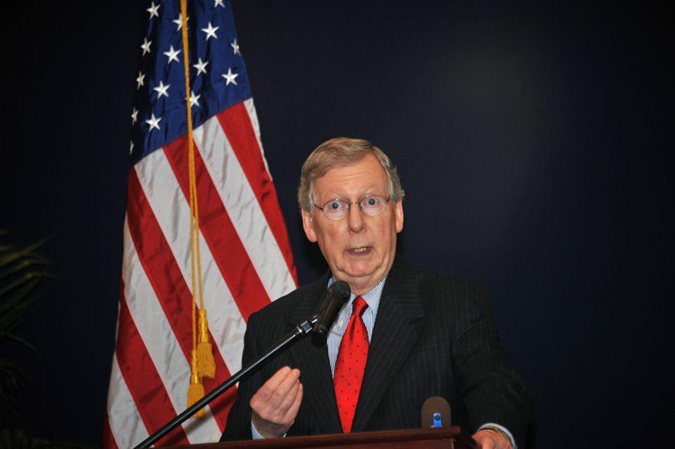 US Senate Minority Leader Mitch McConnel