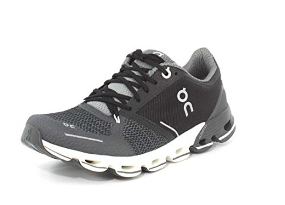 On Running Womens Cloudflyer Black/White Running Shoe, 7 US