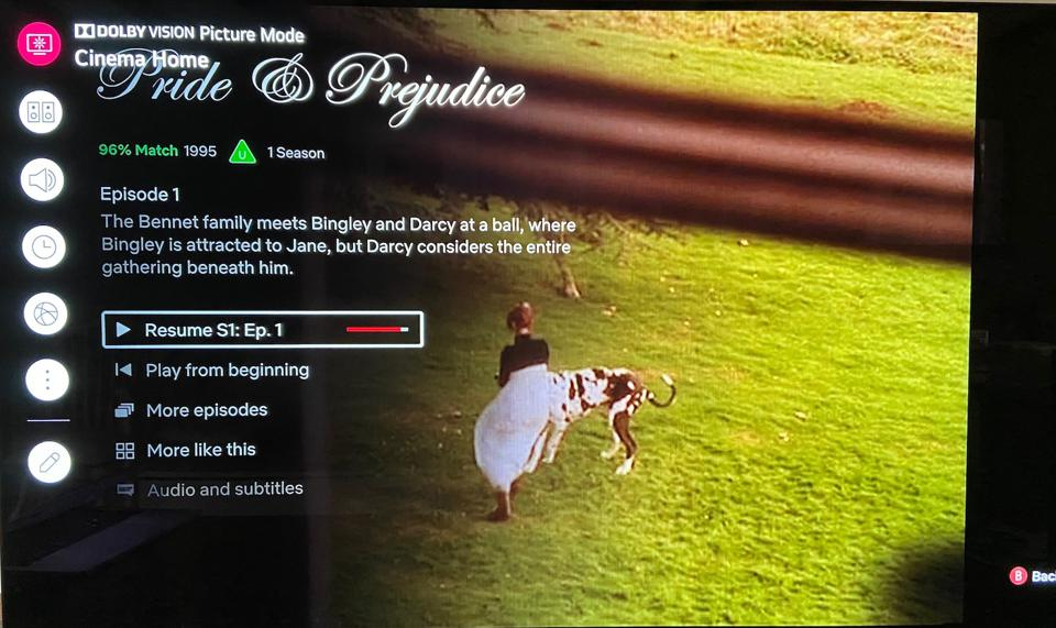 Netflix HDR on an Xbox Series X