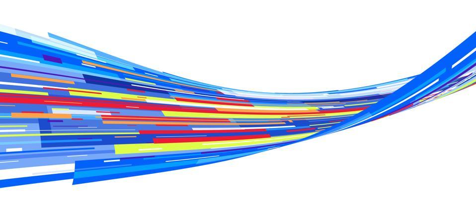 Multi-coloured graphic stripe