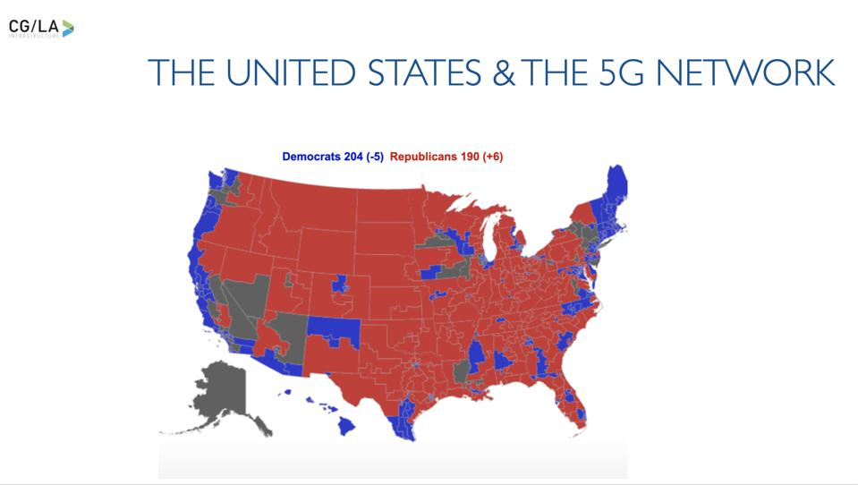 The U.S. in Red and Blue - the Congressional Map