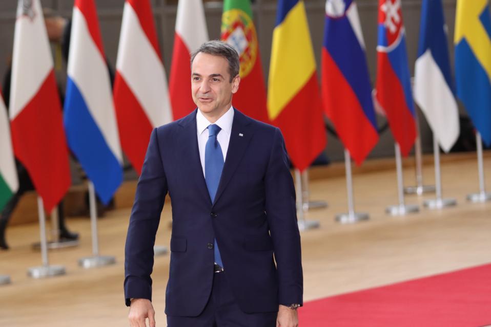 Kyriakos Mitsotakis At The Europan Council