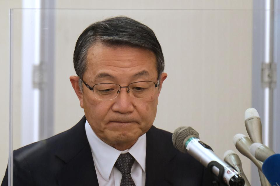 Mitsui OSK Lines President and CEO Junichiro Ikeda attends a press conference at the company's headquarters in Tokyo on September 11, 2020. What did MOL know?